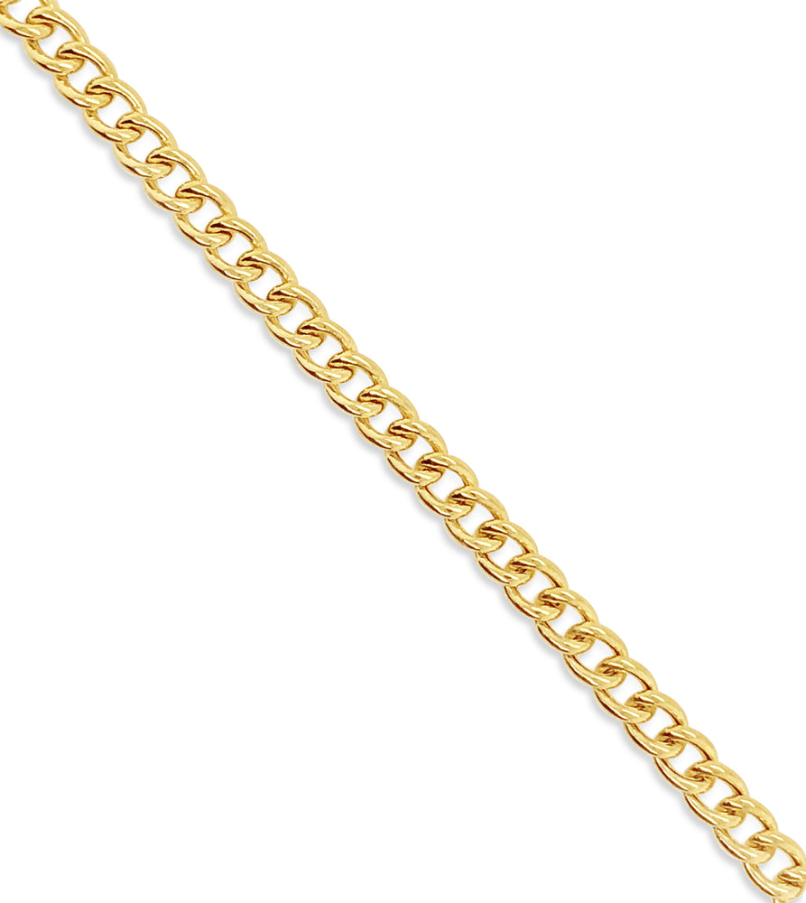 Gold Curb Link Chain Bracelet - 14K  - Olive & Chain Fine Jewelry
