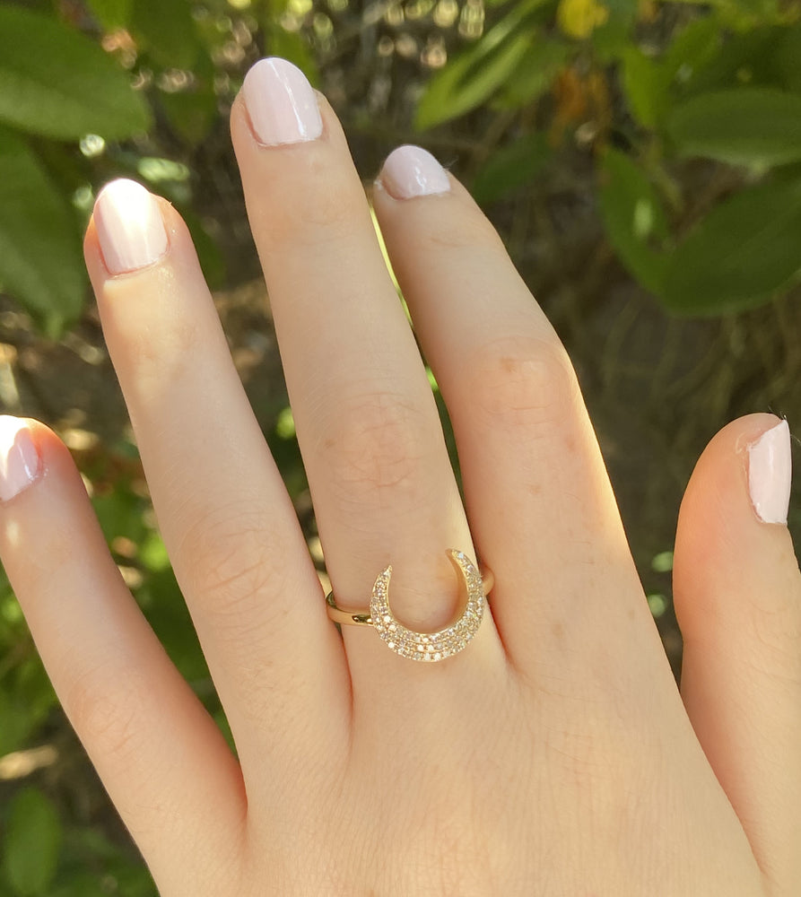 Diamond Horn Ring - 14K  - Olive & Chain Fine Jewelry