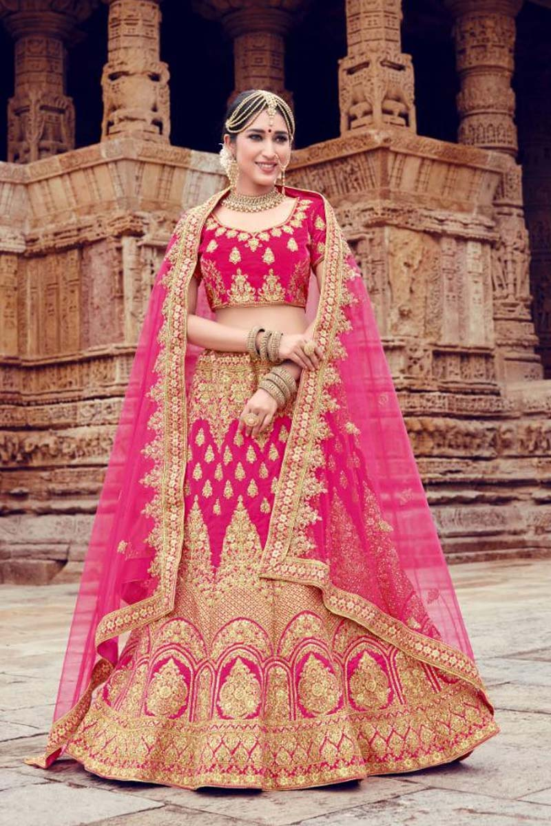 Pink Colour Velvet Designer Lehenga Choli for a Special Day !