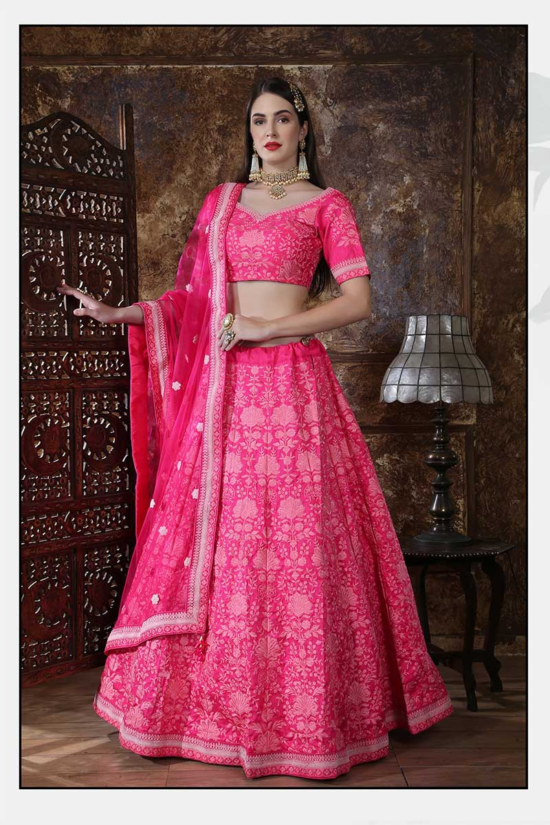 New Designer Bridal Lehenga Choli In Pink Colour