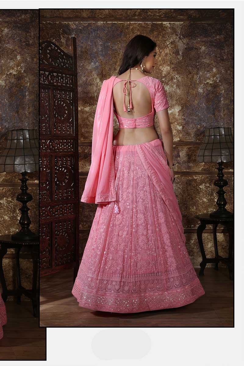 New Designer Bridal Lehenga Choli In Dusty Pink Colour