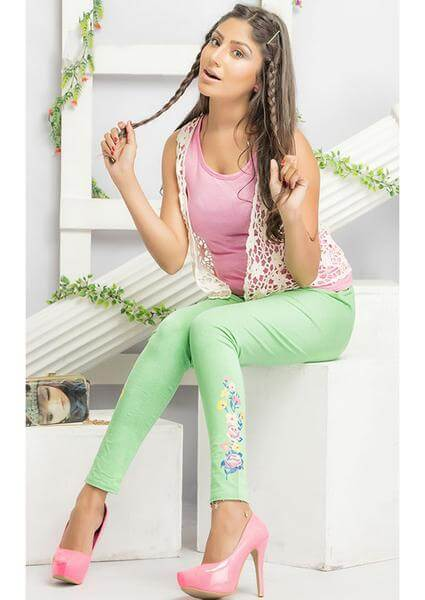 Green Printed Legging