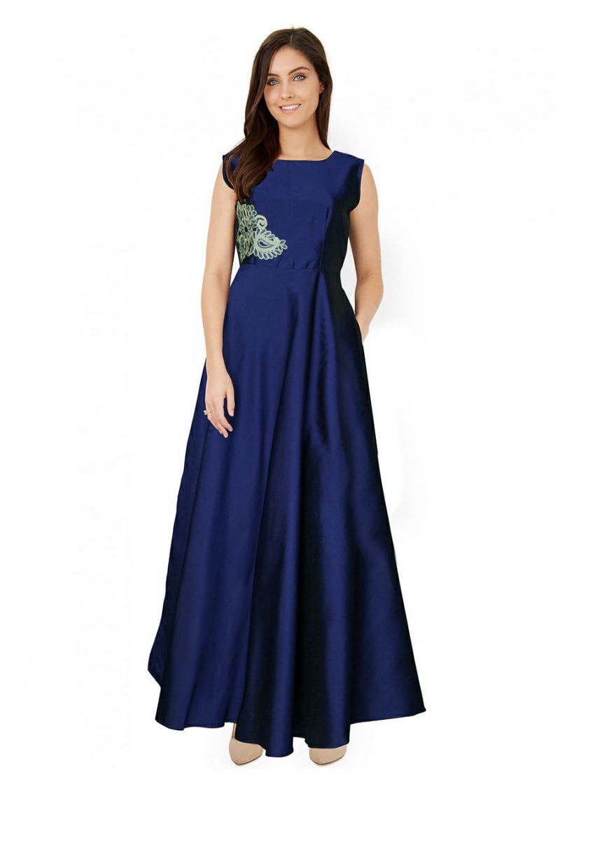 Silk Long Evening Dress