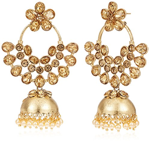 Golden Jhumki Earrings for Women