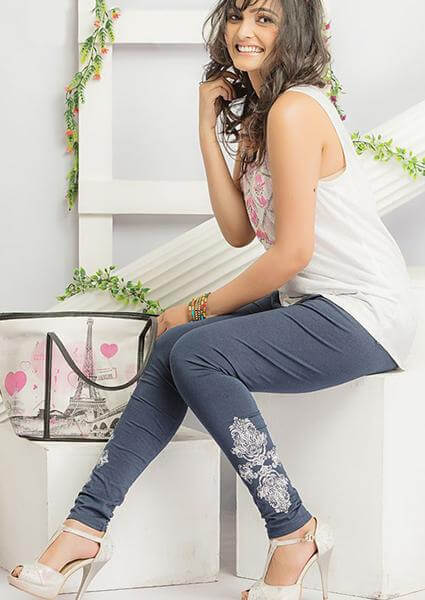 Grey Printed Legging