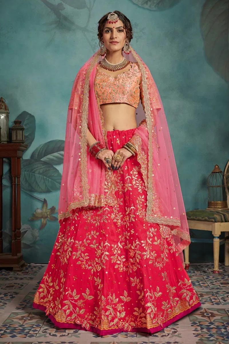 Designer Wear Lehenga Choli in Pink
