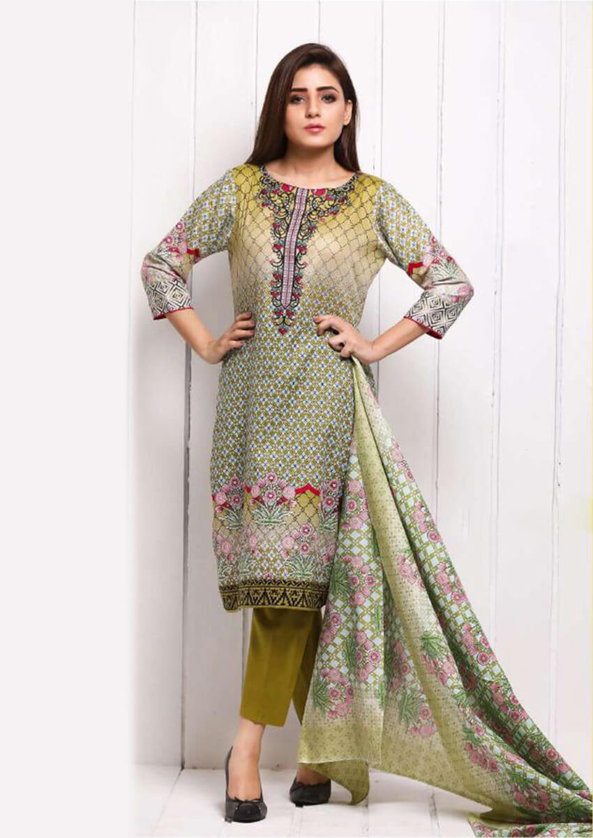 Beautiful Multi Color Digital Printed Cotton Suit for Women