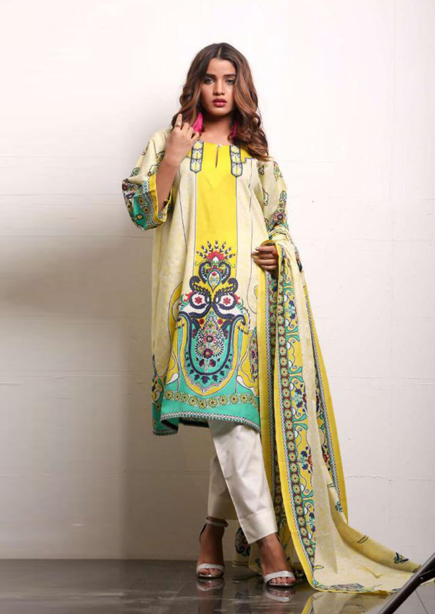 Multi Color Beautiful Digital Printed Cotton Suit for Women