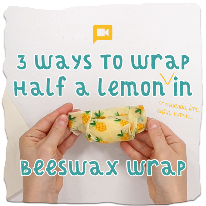 3 Ways to Wrap Half a Lemon (or avocado, onion, etc.) in Ideal Wrap
