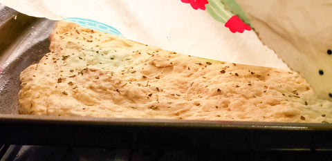 Ideal Wrap - Recipe of the Month - No-Knead, Super Easy Restaurant-Style Focaccia Bread