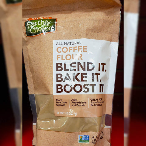 Earthly Choice Coffee Flour is an example of off-beat health foods sold at Bulk Nation