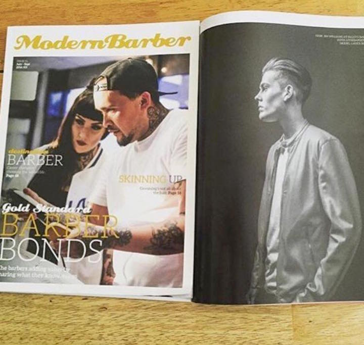 iCandy Scissors Australia - UK Ambassador Jim Williams - Modern Barber Mag Feature 24th Sept 2016 Pic1