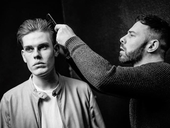 iCandy Scissors Australia - UK Ambassador Jim William Modern Barber Mag Shoot