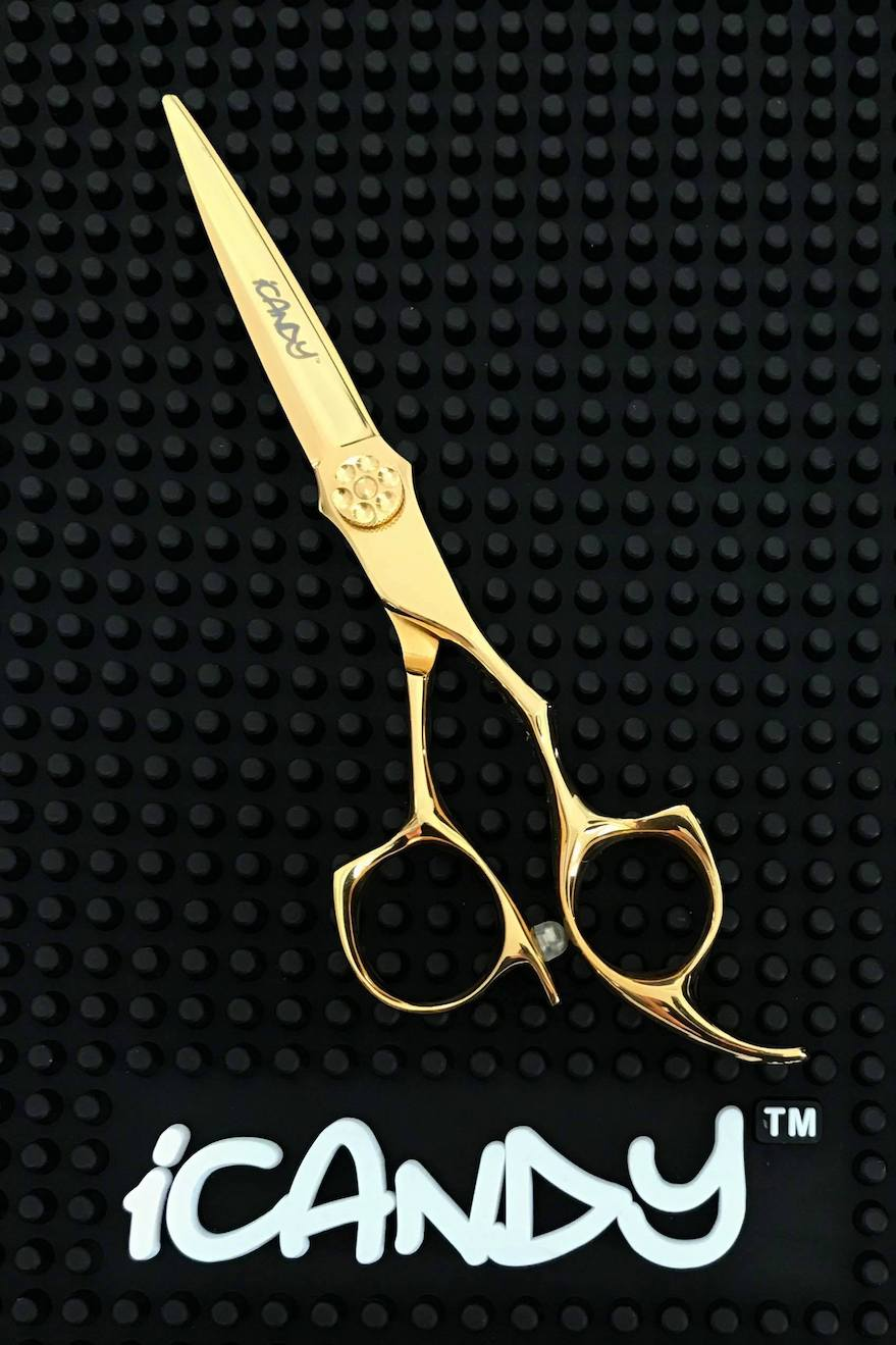 "iCandy ALL STAR Yellow Gold 6.0"" hairdressing Barber Scissor"