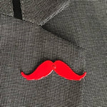 iCandy Barber Red Moustache Lapel Pin - iCandy Scissors