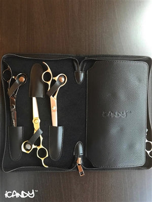iCandy Luxury Black 6pcs Scissor Zip Wallet - iCandy Scissors