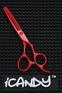 iCandy Creative Series Volcano Red Thinning Scissors - Limited Edition ! (5.5 inch) - iCandy Scissors