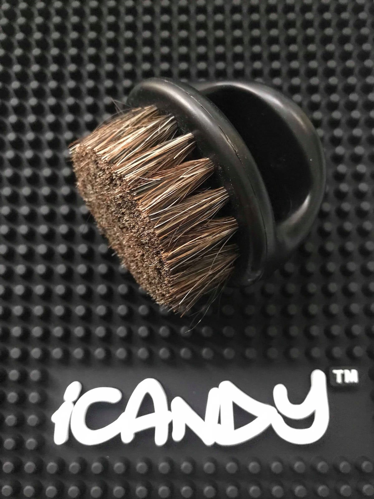 iCandy Boar Bristle Knuckle Brush Black Colour 2PK - iCandy Scissors