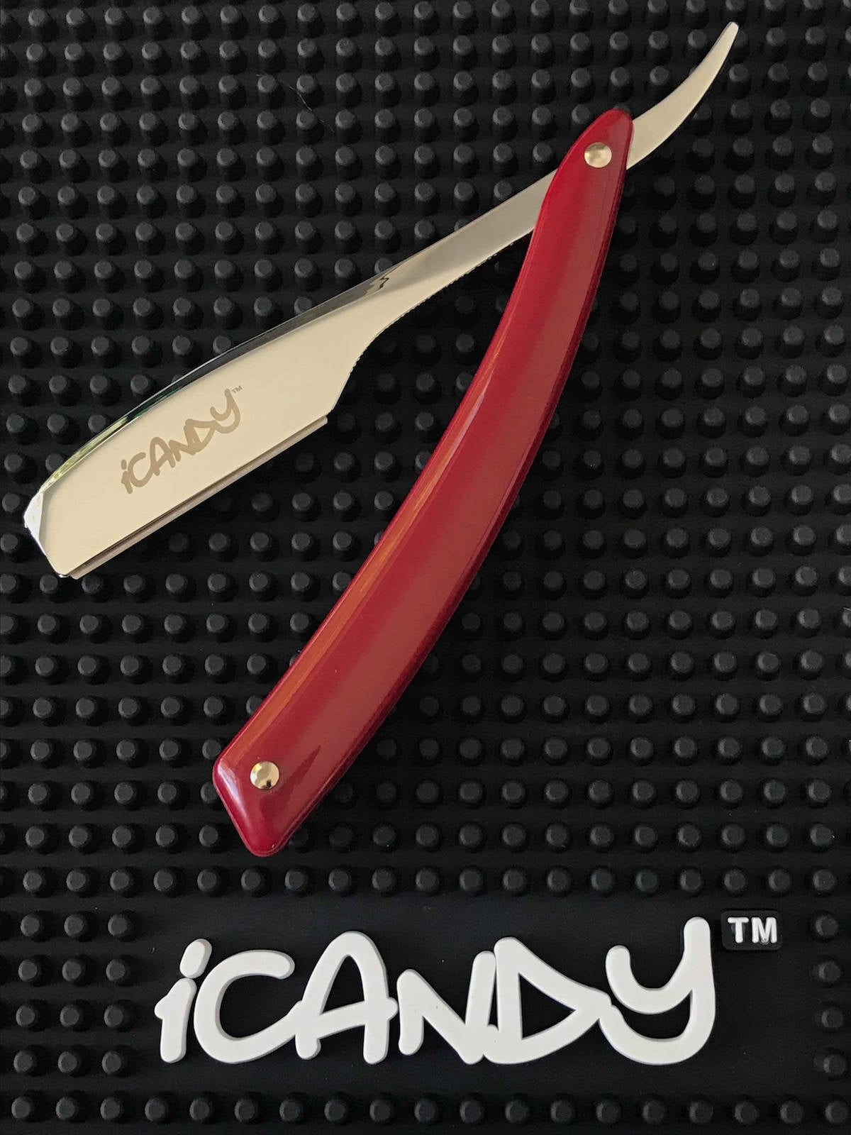 iCandy Professional Chrome & Burgundy Shaving Razor - iCandy Scissors
