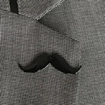iCandy Barber Black Moustache Lapel Pin - iCandy Scissors