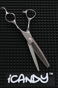 iCandy Bevel Edge 27T Super Cobalt Thinning Scissors  (6.0 inch) - iCandy Scissors