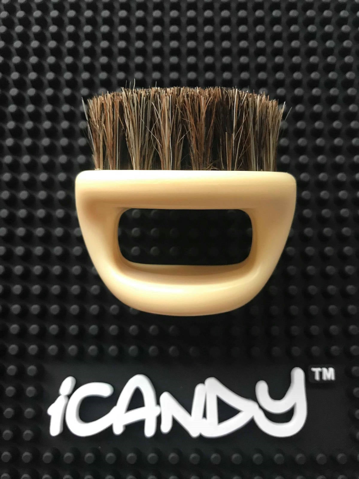iCandy Boar Bristle Knuckle Brush Bone Colour 2PK - iCandy Scissors