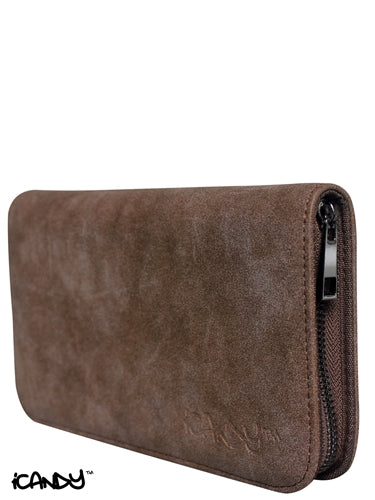 iCandy Luxury Brown 4pcs Scissor Zip Wallet - iCandy Scissors