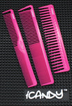 iCandy Creative Series Triple Fuchsia Pink Combs Set - iCandy Scissors