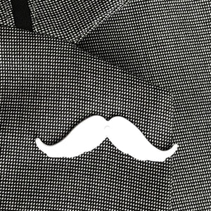 iCandy Barber White Moustache Lapel Pin - iCandy Scissors