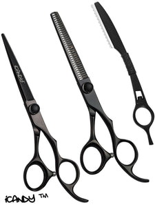 iCandy Elite Midnight Black Scissor & Thinner Bundle (6 inch) - iCandy Scissors