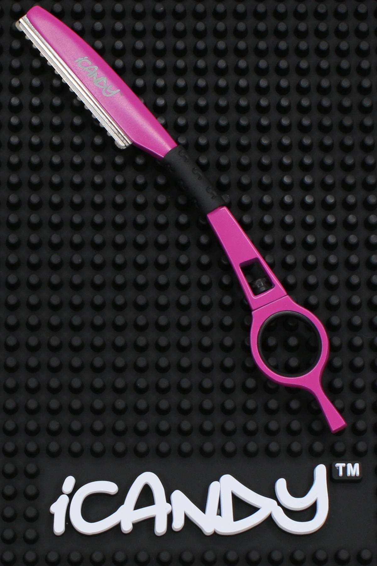 iCandy Fuchsia Pink Feathering Razor - iCandy Scissors