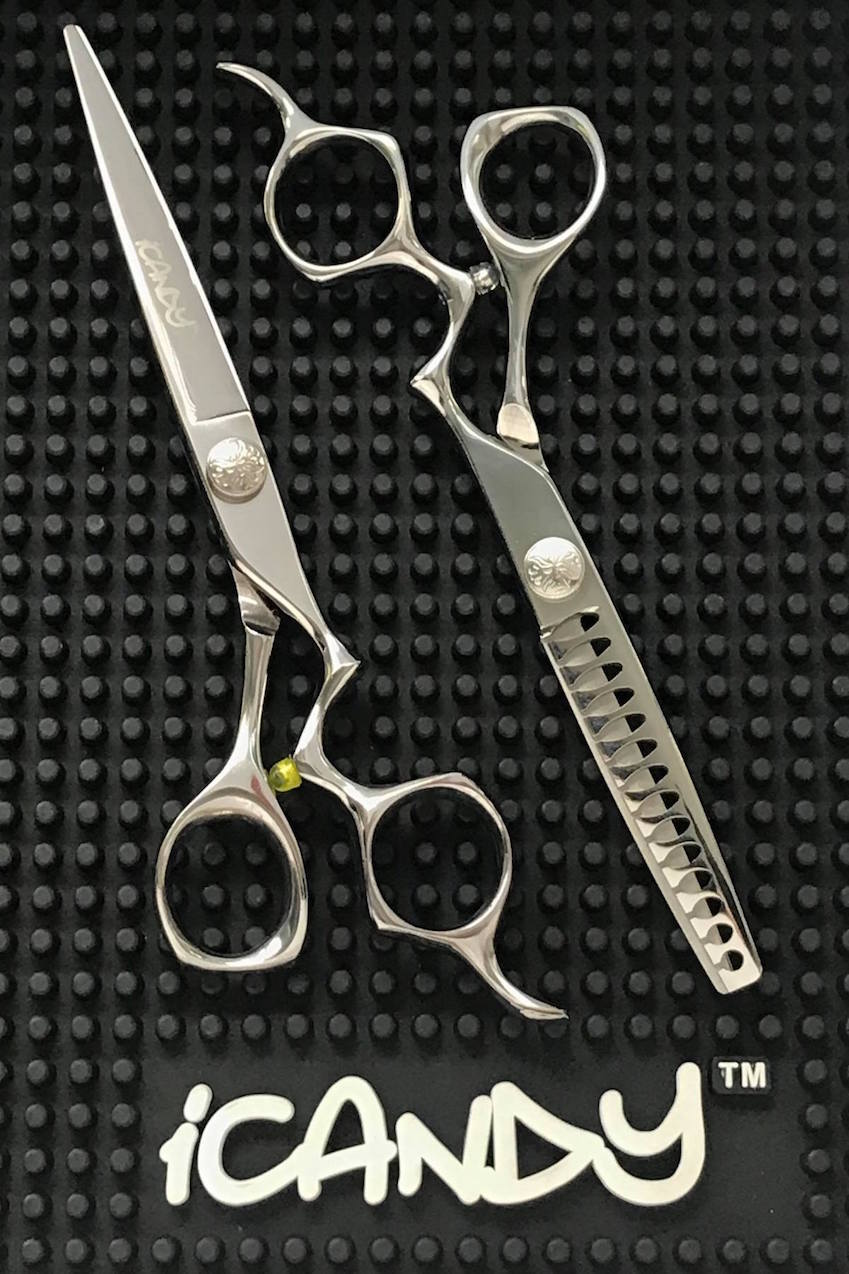 iCandy Athena 6.5 - Athena Tex RAPTOR 6.0 Hairdressing Barbering Scissors Bundle