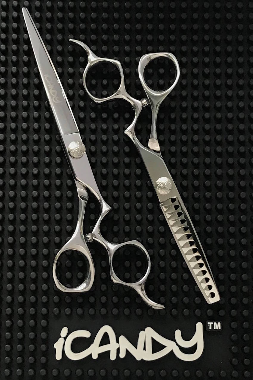 iCandy Athena 7.0 - Athena Tex RAPTOR 6.0 Hairdressing Barbering Scissors Bundle