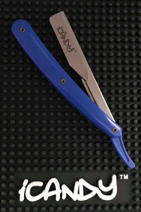iCandy Barber Razor Blue & Chrome