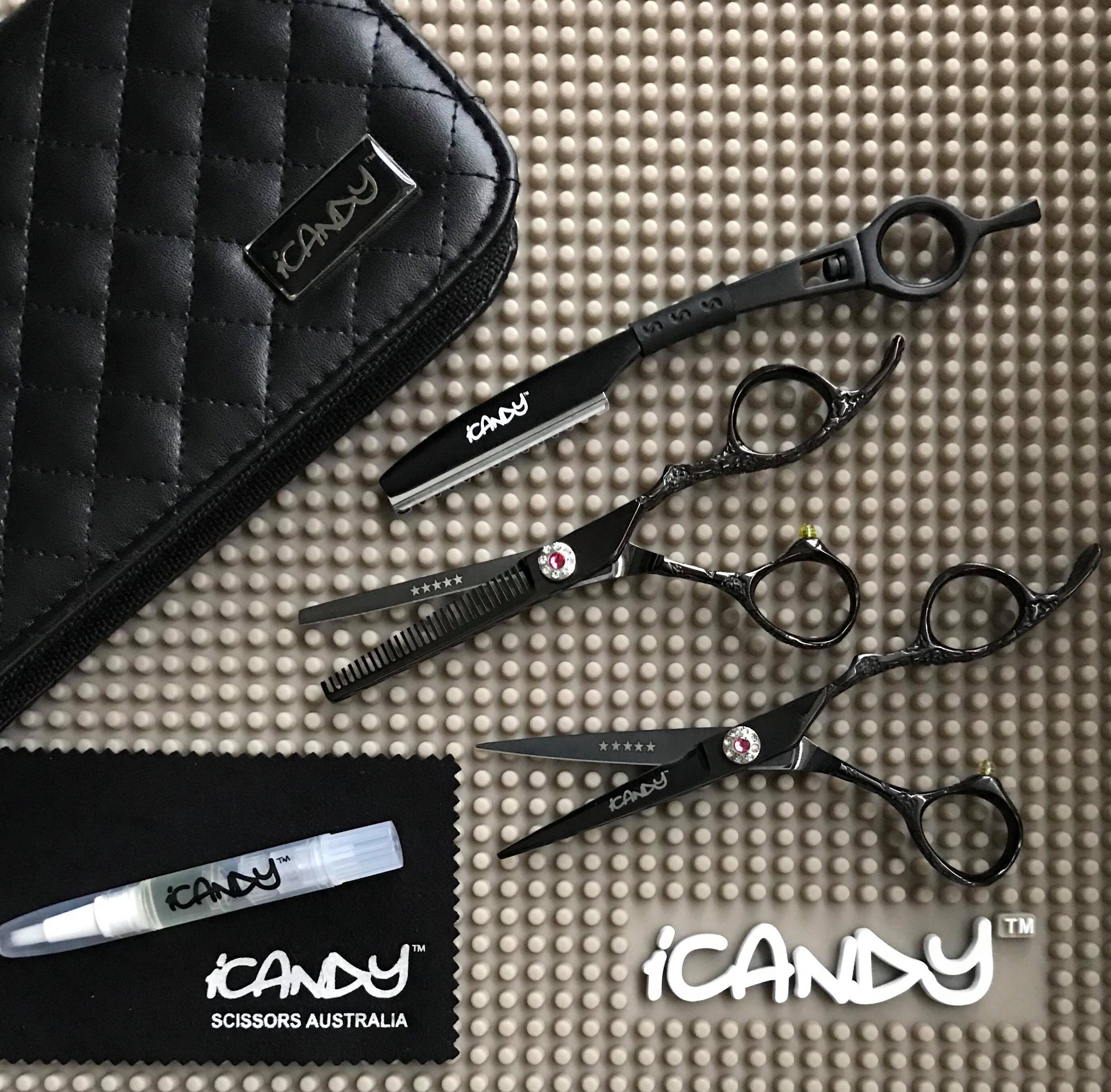 iCandy Dream Midnight Hairdressing Scissors Bundle