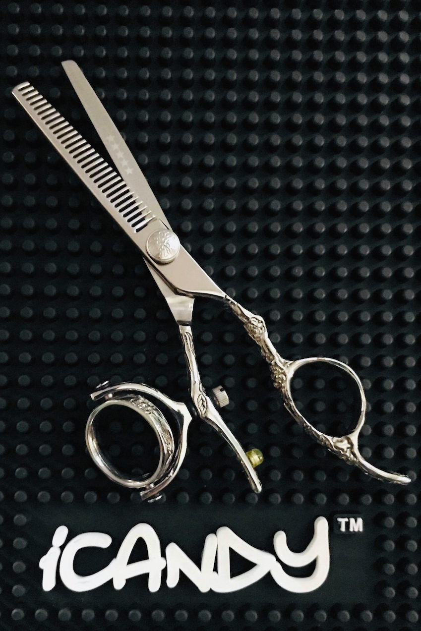 iCandy Dream Mirror Swivel-T Thinning Scissors - G Screw Limited Edition ! (5.5 inch)
