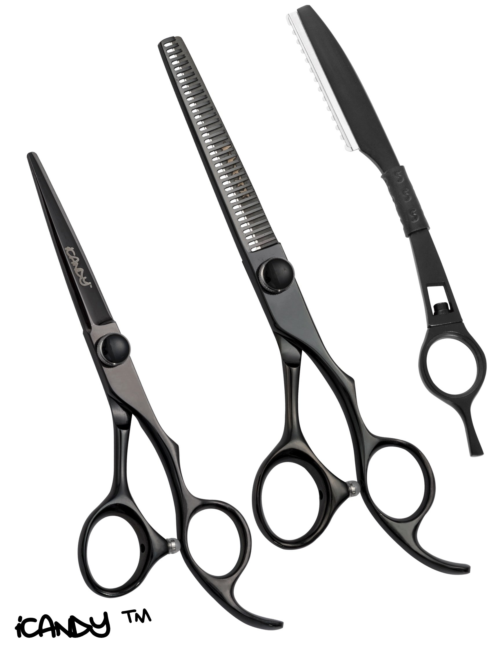 iCandy Elite Midnight Black Scissor & Thinner Bundle (5.5/6 inch)