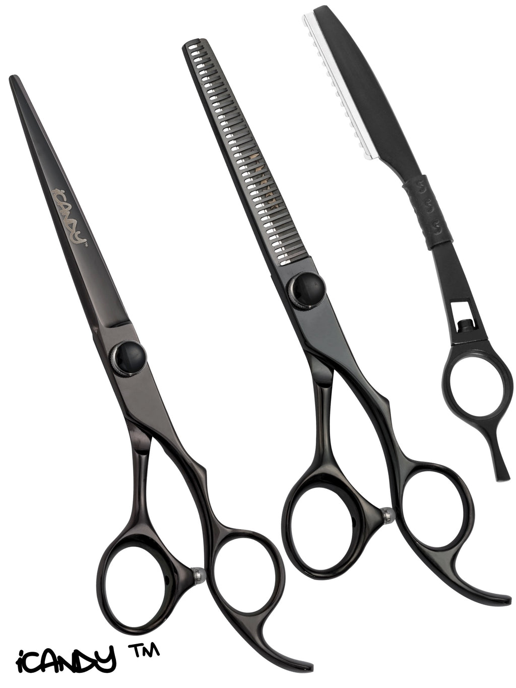 iCandy Elite Midnight Black Scissor & Thinner Bundle (6.5/6.0 inch)