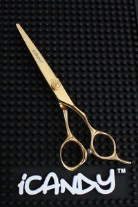 iCandy LUXE Taper Pro Yellow Golden Barbering Scissor 6.0 Inch Pic1