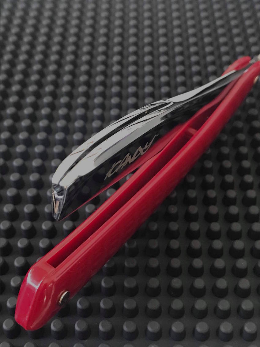 iCandy Professional Shaving Razor Burgundy Swing Arm Handle