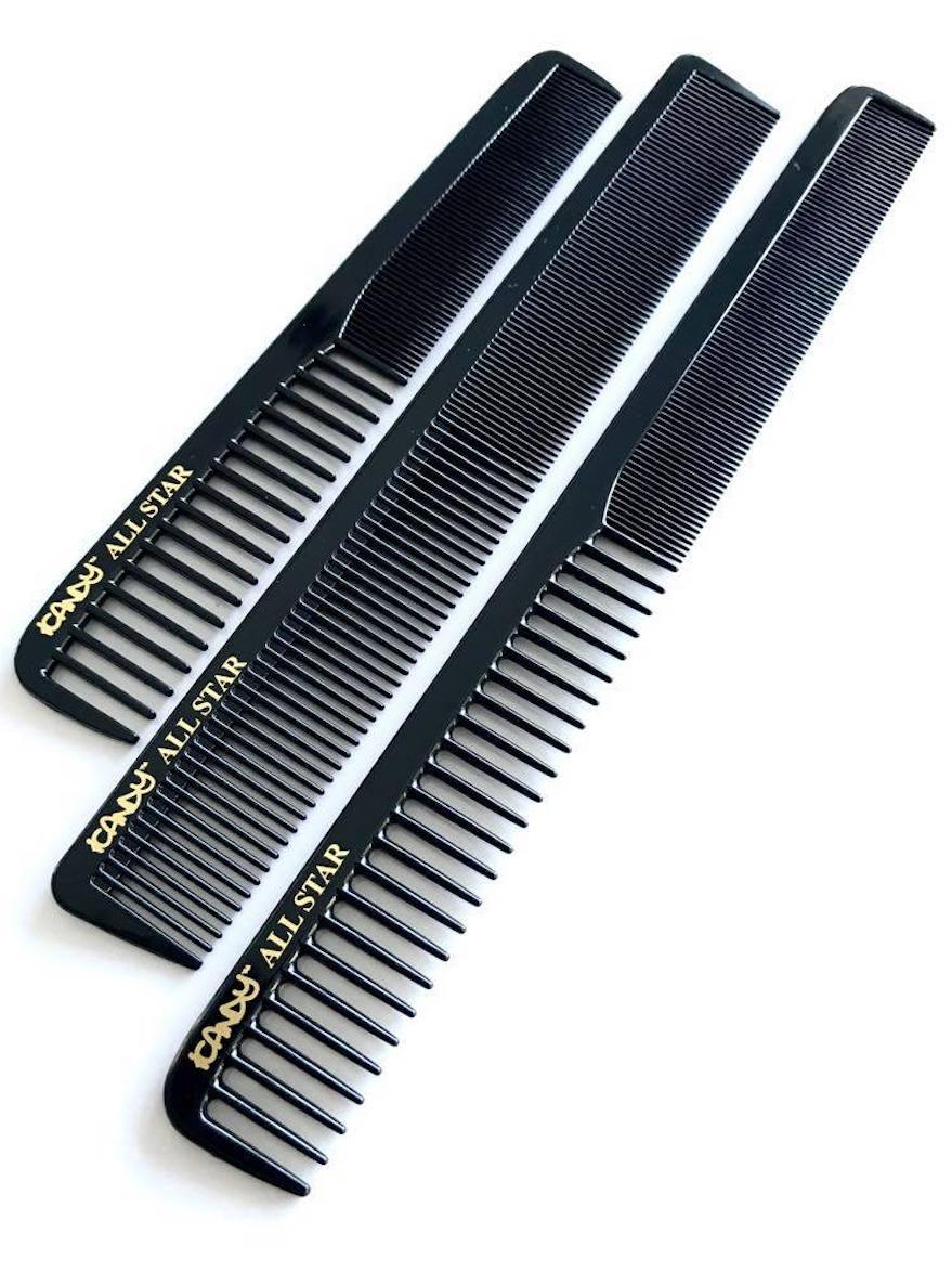 iCandy ALL STAR Black Triple Combs Set pic1