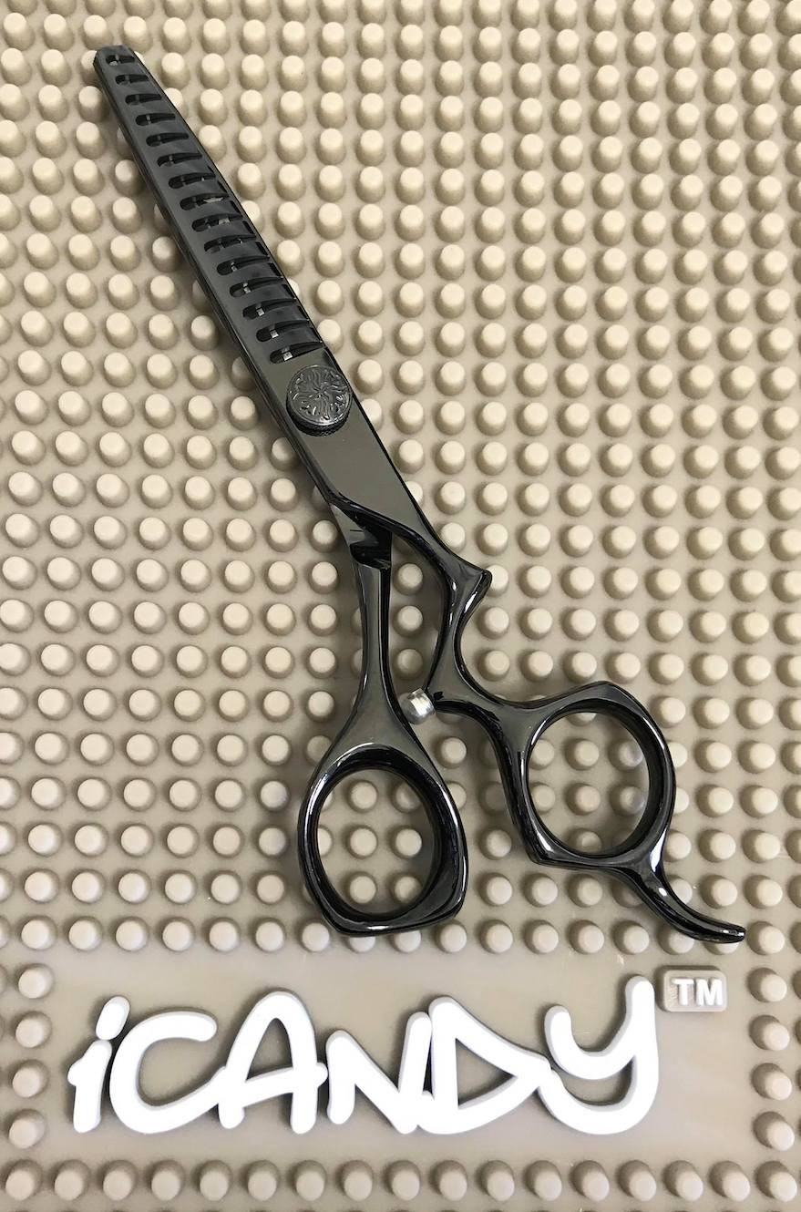 iCandy Athena-TEX Midnight Black Texturising Scissors Limited Edition (6 inch)