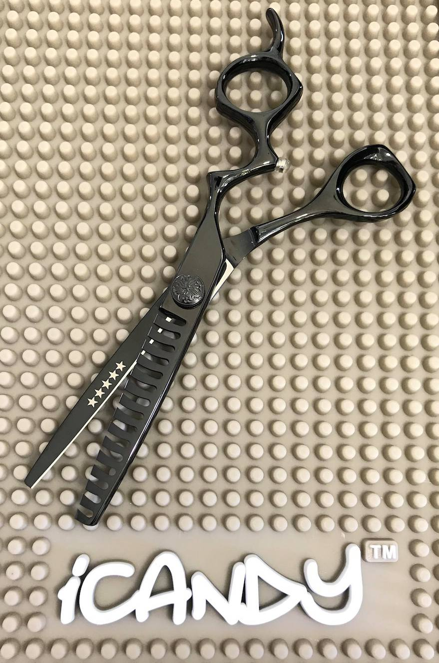iCandy Athena-TEX Midnight Black Texturising Scissors Limited Edition (6 inch) pic2