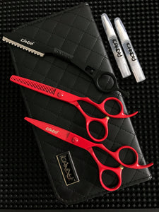 iCandy Creative Series Volcano Red Scissors Bundle - Limited Edition ! (5.5 inch)
