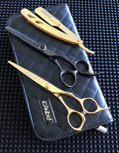 iCandy Taper Pro 6.0 & Elite-T Midnight 6.0 Hairdressing Barbering Scissors Bundle