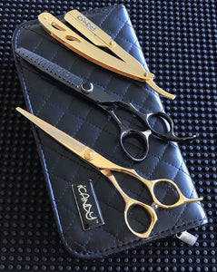 iCandy Taper Pro 6.0 & Elite Tex Midnight 6.0 Hairdressing Barbering Scissors Bundle