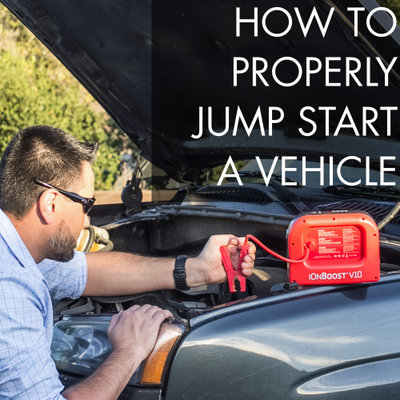 How to Jump start a vehicle with Jumper Cables & Lithium-ion jumper