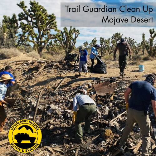 Overland Bound Completes Third Trail Guardian Clean Up in the Mojave National Preserve