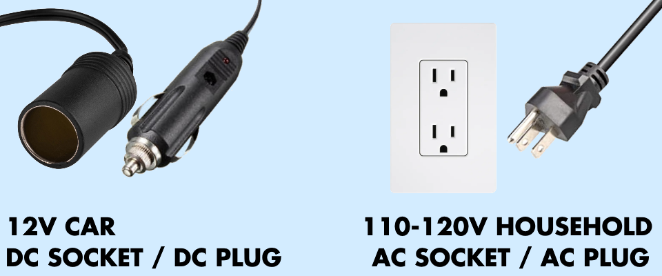 ac and DC plugs