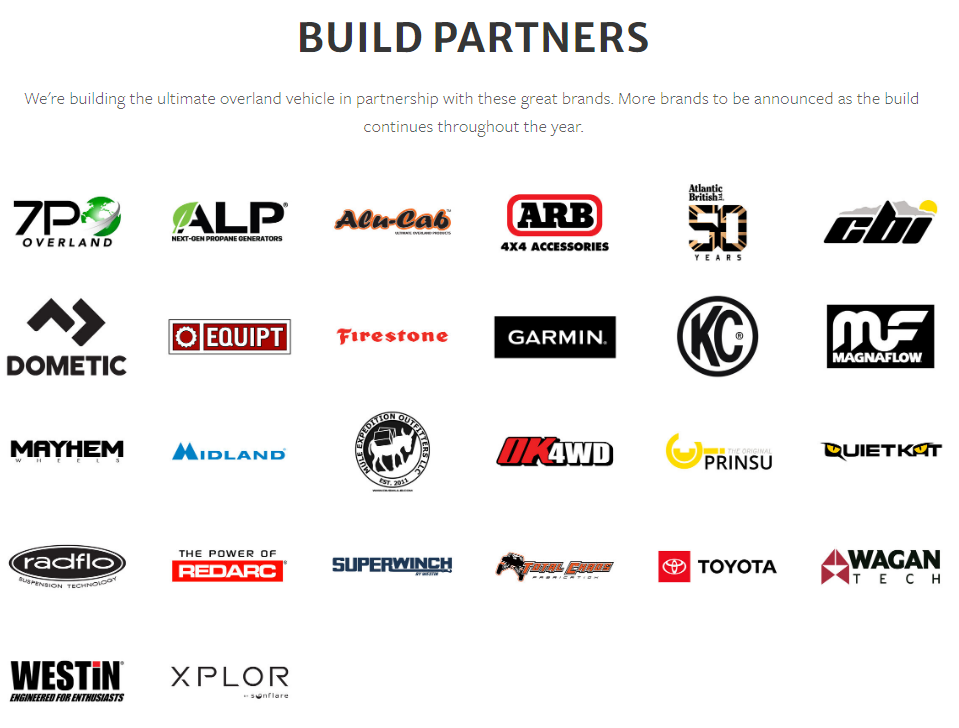 overland expo build partners